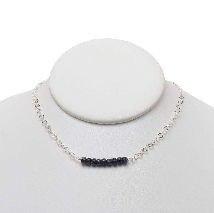 Sapphire & Sterling Silver Necklace
