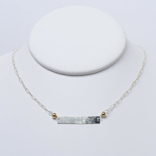 Sterling Silver & Goldfill Bar Necklace