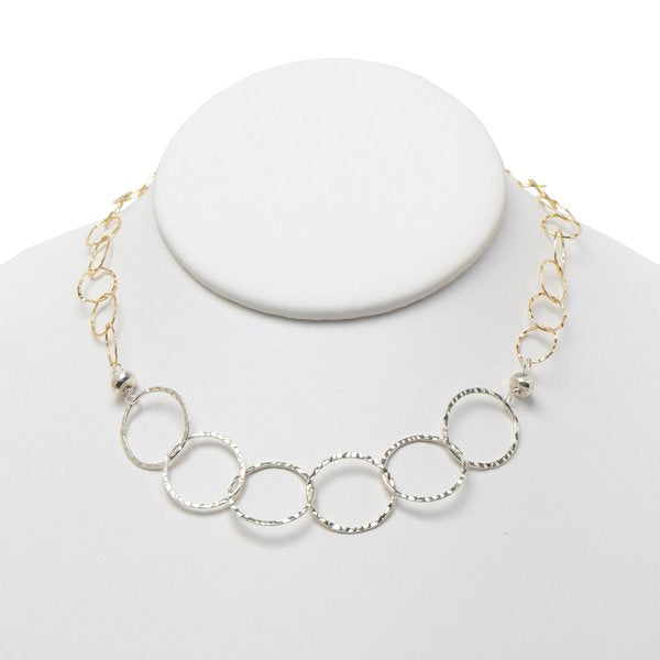 Mixed Metals Sterling Silver & Goldfill Necklace