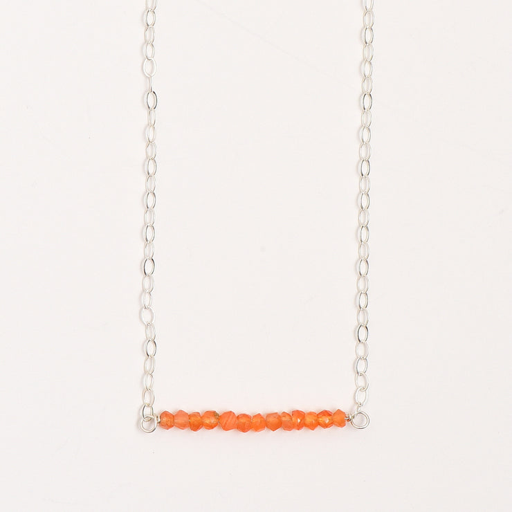 Carnelian & Sterling Silver Necklace
