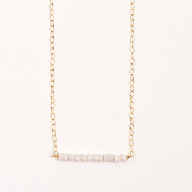 White Quartz & Goldfill Necklace