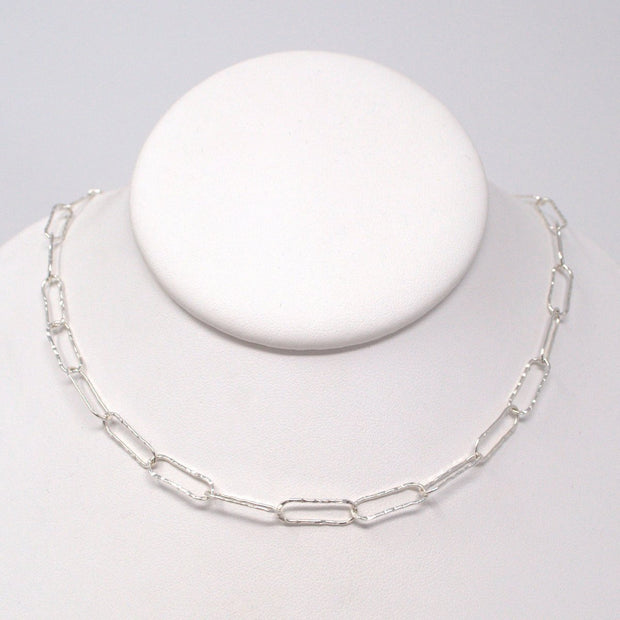 Sterling Silver Hammered Necklace