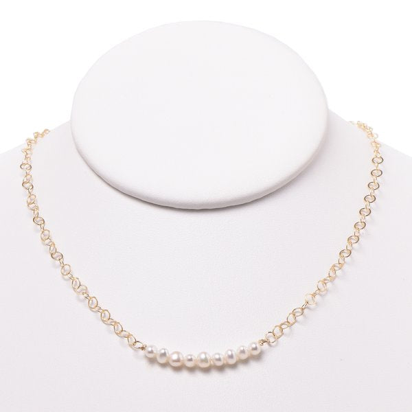 Freshwater Pearl & Goldfill Necklace