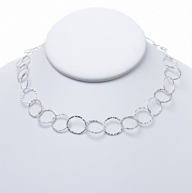 13mm Sterling Silver 16-30 Inch Hammered Chain