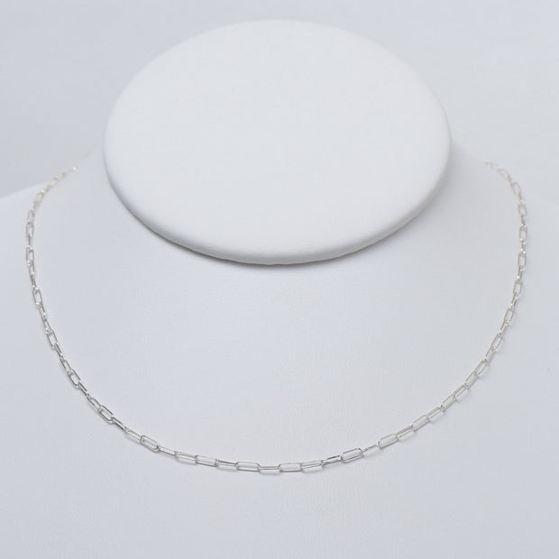 Sterling Silver Paperclip Chain