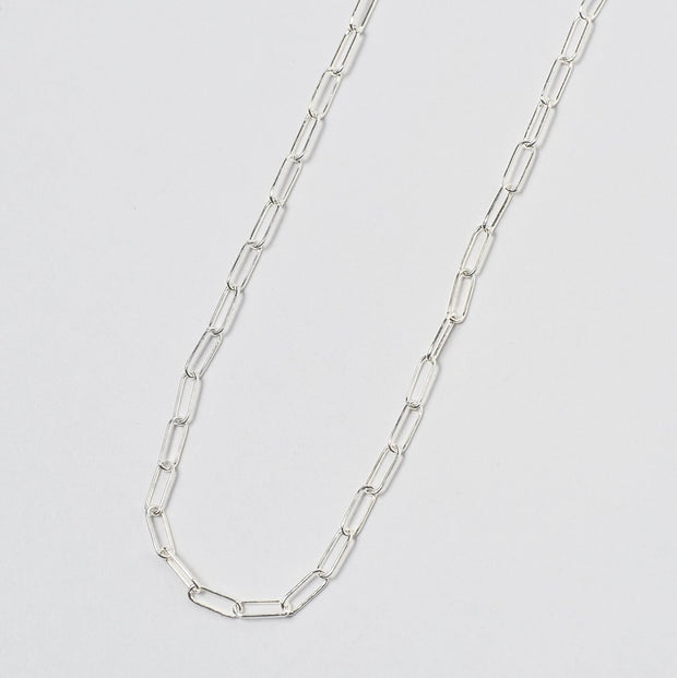 Sterling Silver Paperclip Long Chain