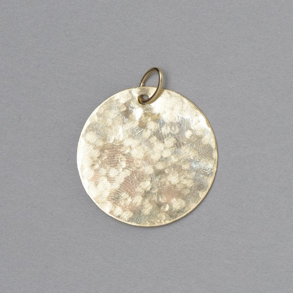 Hammered Goldfill Pendant