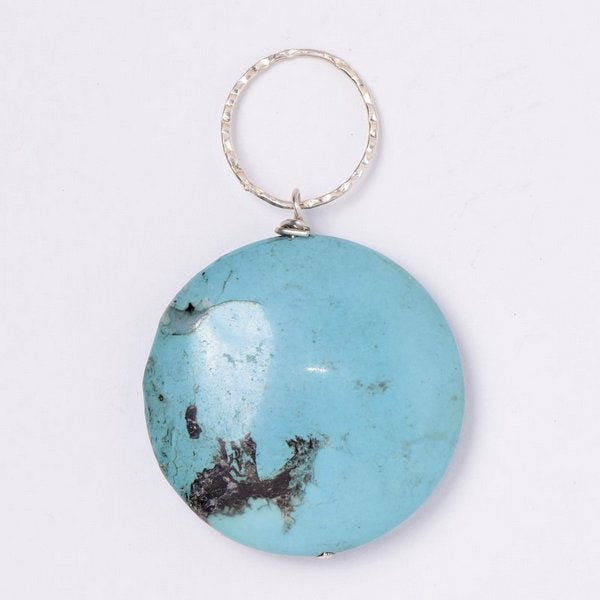 Turquoise Coin Pendant