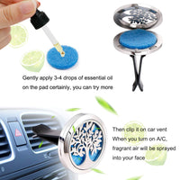Car Essential Oil Diffuser Vent Clips and Refill Pads (Charlotte)