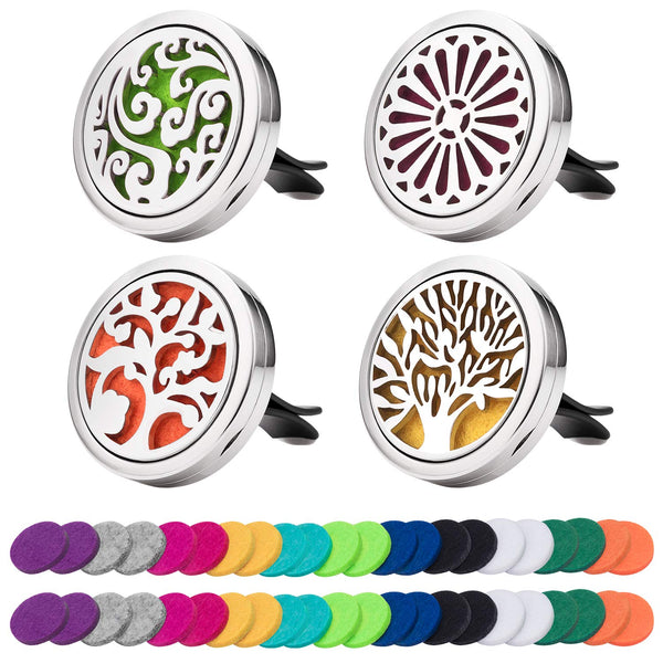 Awpeye Car Essential Oil Diffuser Vent Clips and Refill Pads