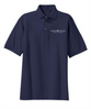 Men's Navy Cotton Polo