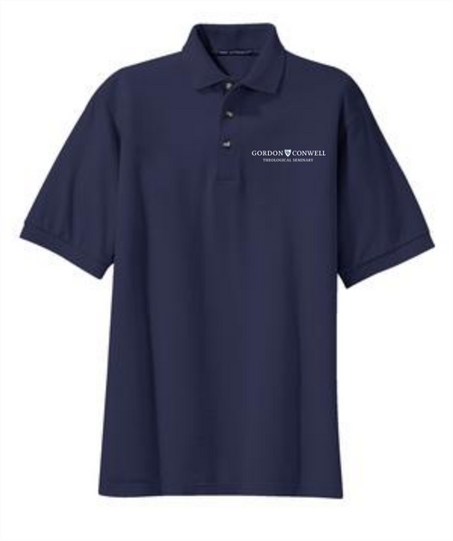 Men's Navy Cotton Polos (Charlotte)