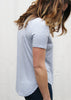 Light Blue Rounded Hem Tee