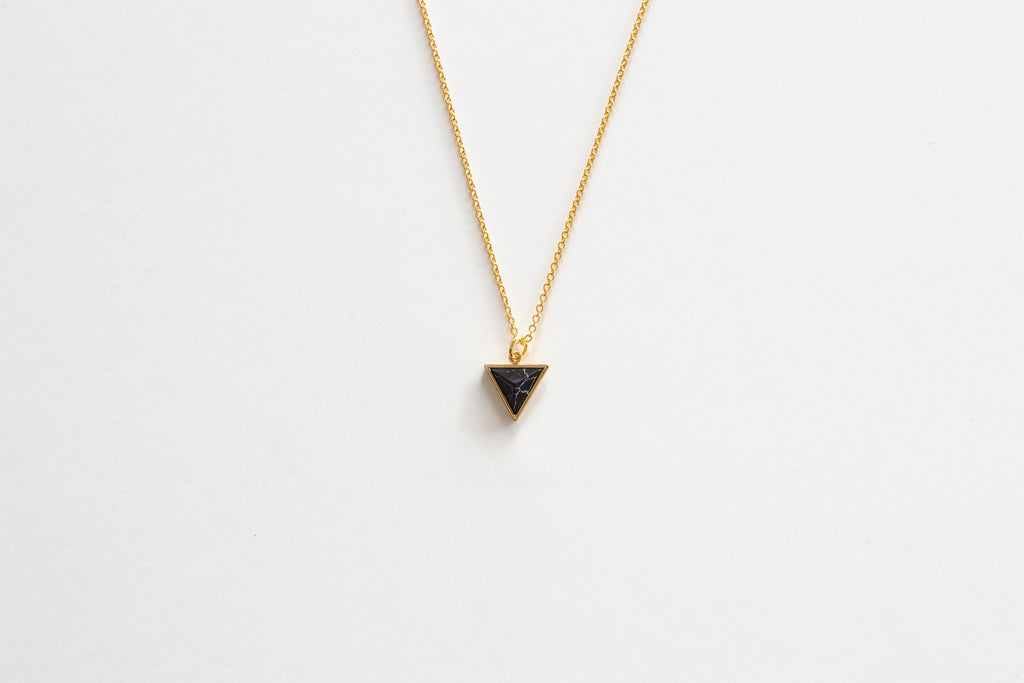 Marble Triangle Pendant