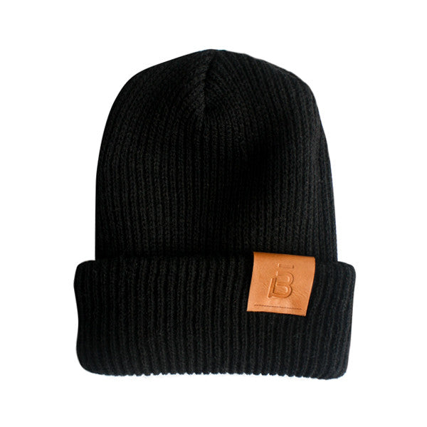 Leather Patch barre3 Beanies