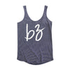 B3 Navy Striped Script Tank