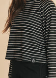 Striped Logo Pullover