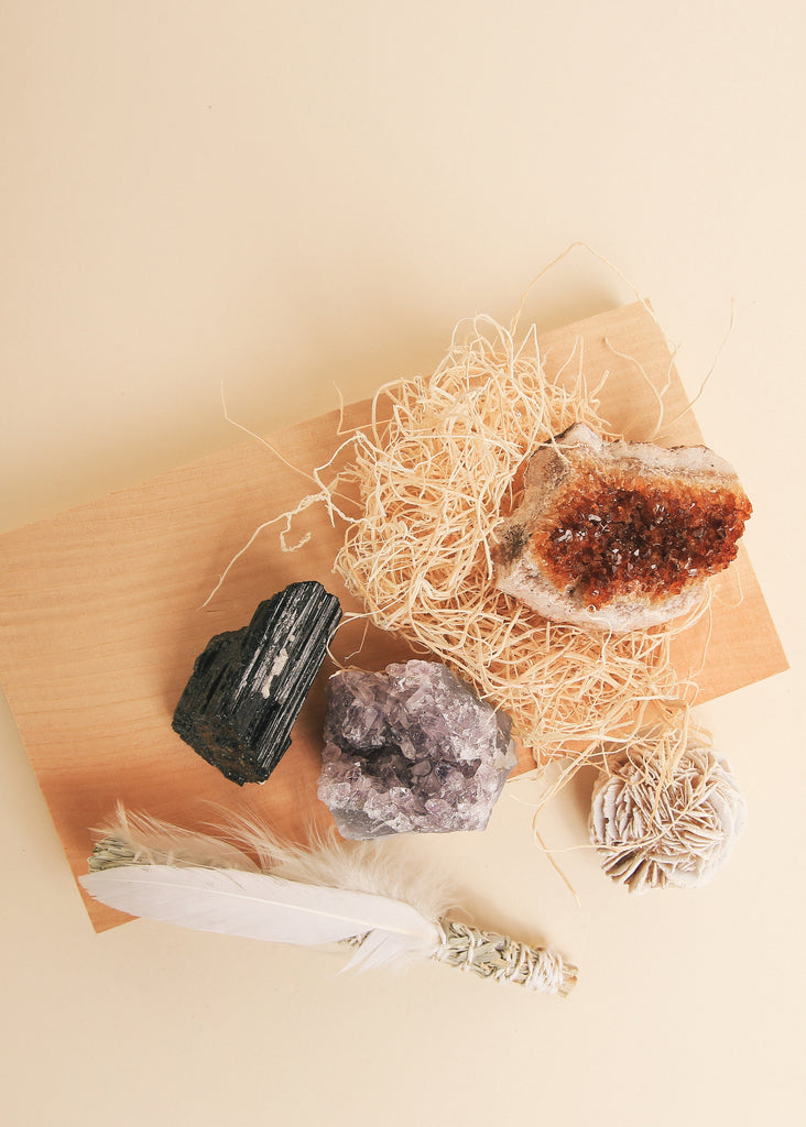 Ceremonial Crystal + Sage Kit