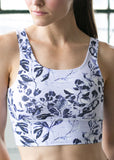 DYI Lilac + Navy Floral Elevate Bra