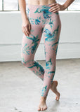 DYI Rose + Teal Floral Legging