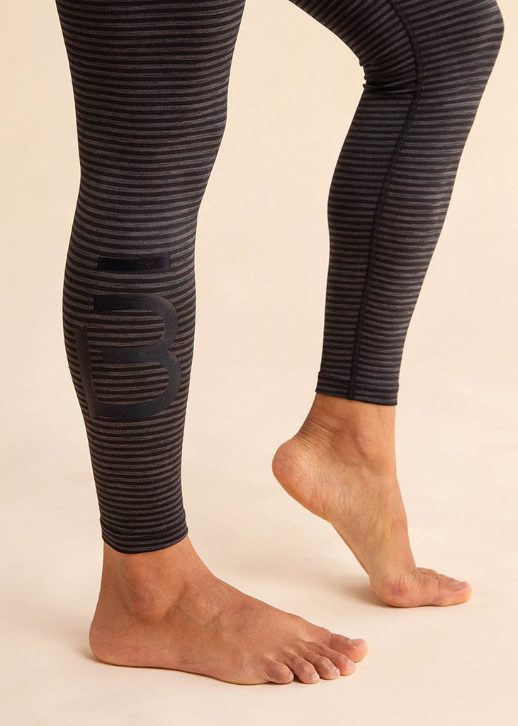 B3 X Beyond Yoga Striped High Waisted Midi Legging