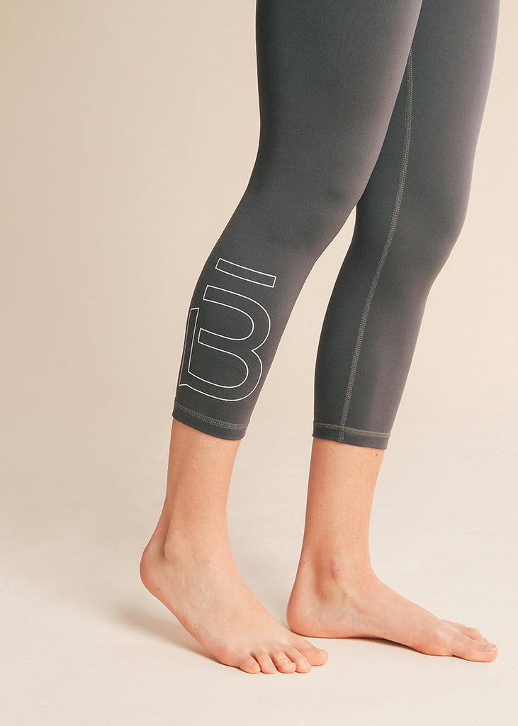 B3 X DYI Dark Grey High Waisted Midi Legging