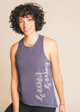 Storm Grey High Neck Script Tank