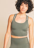 Compression Stripe Hype Cropped Tank