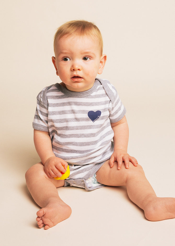 B3 Striped Love Onesie