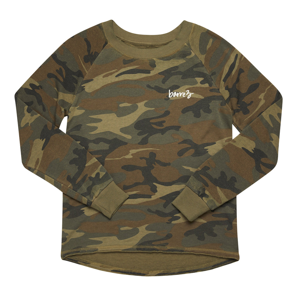 Relaxed Fit Camo Pullover