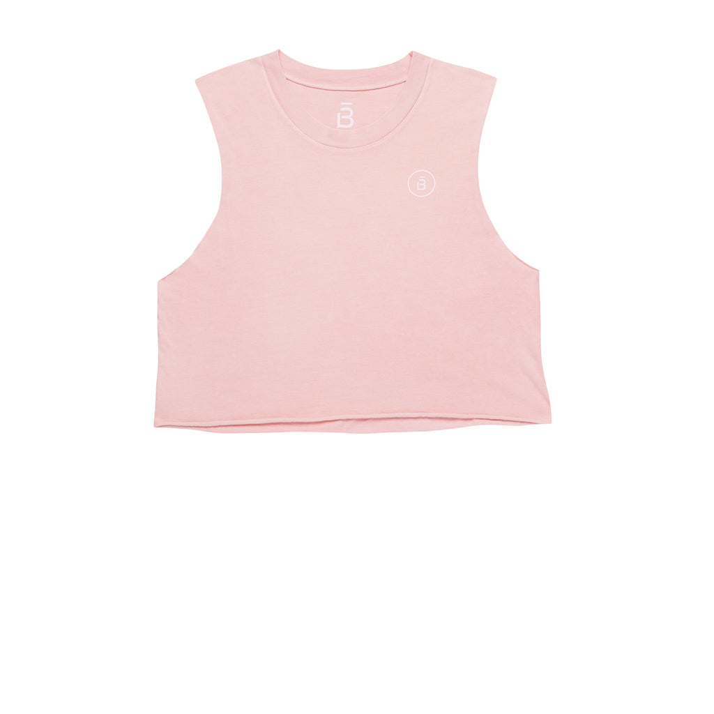 Pink Cropped Muscle Tank