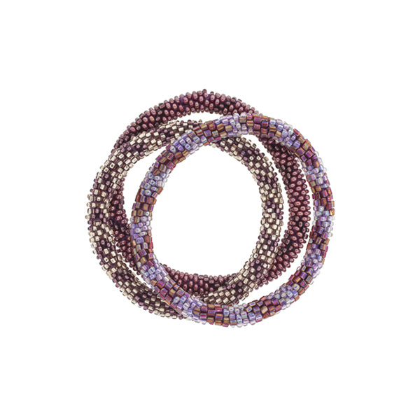 Aid Through Trade Bracelet Trio - Cranberry