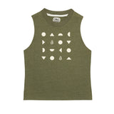 Army Green Graphic Tank