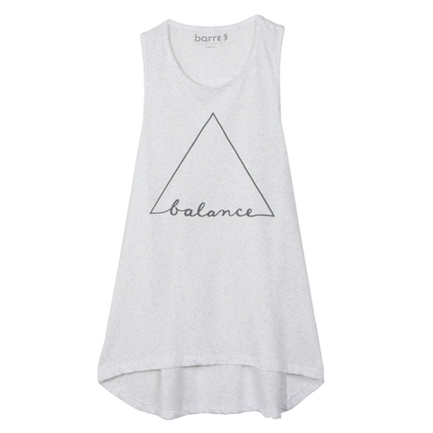 "Grey Signature Racerback Tank ""barre3"""