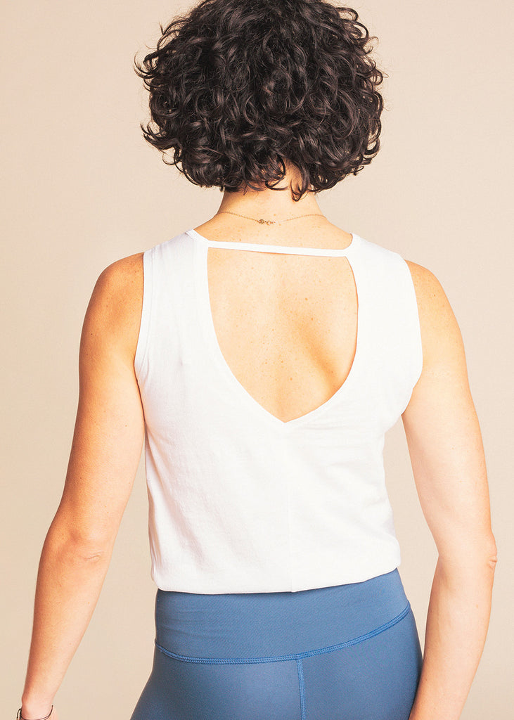 B3 x Beyond Yoga White Multi Tank