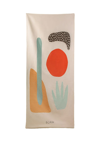 Yoga Towel - Coral