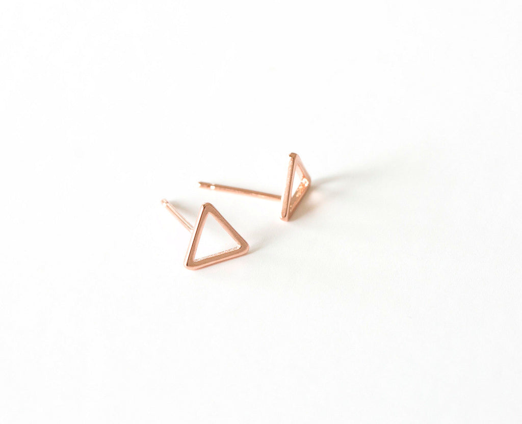 Heidi Hull Rose Gold Triangle Studs