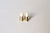 Ceramic Gold Bar Earrings