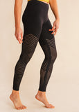 barre3 | lululemon Reveal Tight Mesh Stripe Black