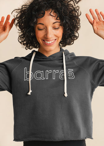 barre3 | lululemon Broken Beats Alpine White Hoodie