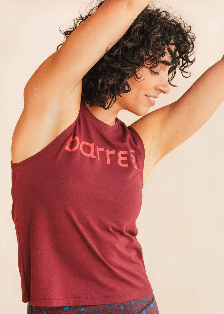 Burgundy Hip Length Tank