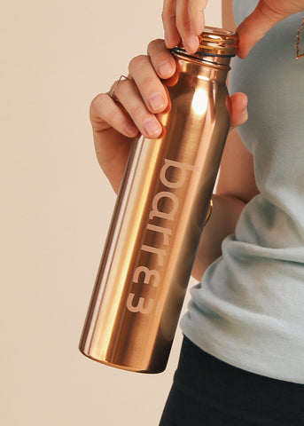 BKR Metallic Heart Bottle
