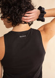 Black Signature Hip Length Tank