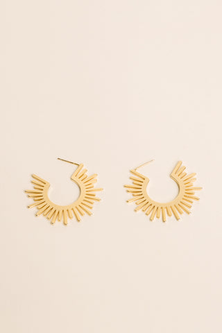 Cozumel Gold Leather Earrings