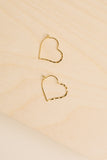 Heart Hoop Small Earrings