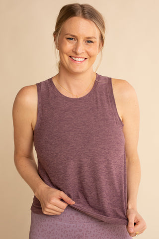 Light Purple Signature Hip Length Tank
