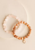 Sunstone Mama + Quartz Mini Bracelet Set