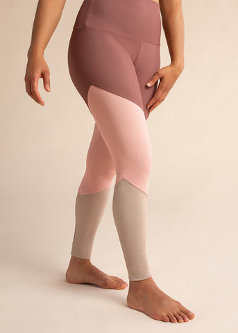 B3 X Beyond Yoga Grey Striped High Waisted Midi Legging