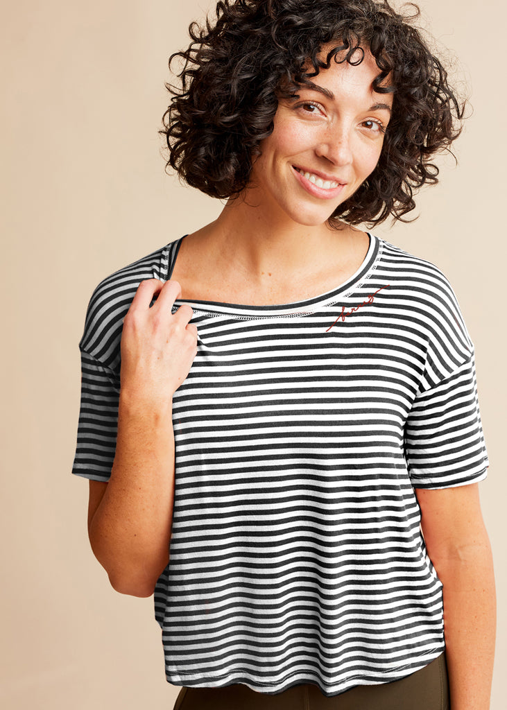 Black/White Stripe Tee