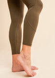 barre3 | lululemon In Movement Tight 7/8 Dark Olive